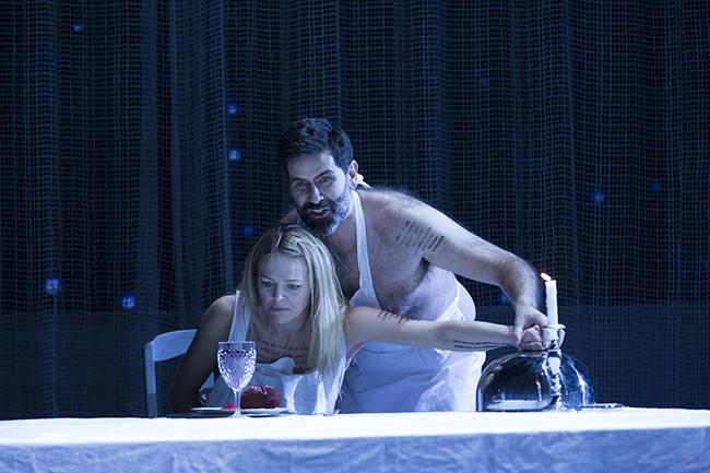 Elin Rombo och Jeremy Carpenter i George Benjamins Written on Skin. Foto: Markus Gårder